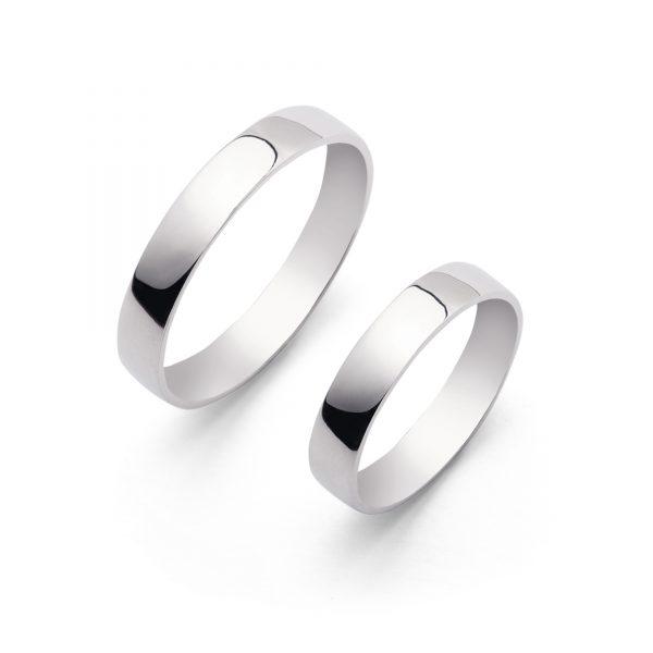 Lens - obrączki ślubne soczewkowe białe złoto szerokości 3,5mm - Marcin Czop Autorska Pracownia Biżuterii
